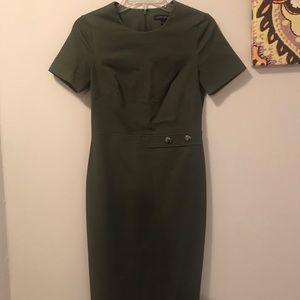 Olive Green Banana Republic sheath dress